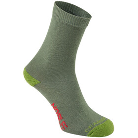 Craghoppers NosiLife Travel Socks Kids dark khaki/spiced lime